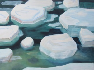 "Damariscotta River Oil on canvas 36"" x"