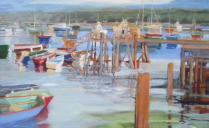"""Muscongus Bay Oil on canvas 26""""x42"""""""