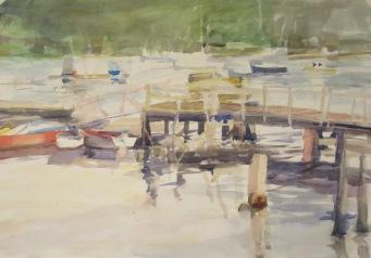 Muscongus bay watercolor