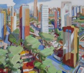 "São Paulo Oil on canvas 36"" x 42"""